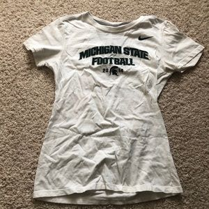 Michigan State Football Nike Fitted White Shirt